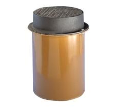Wavin 315 mm dæksel med PVC-skørt, 3 t, GG