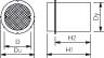 Wavin 425 mm dæksel med PVC-skørt, 3 t, GG