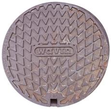 Wavin 600 mm dæksel til løs skørt med støbejernsramme