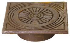 Jemi 110 mm rørbrøndkarm med dæksel, firkantet, 1,5 t, GG