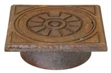 Jemi 200 mm rørbrøndkarm med dæksel, firkantet, 1,5 t, GG