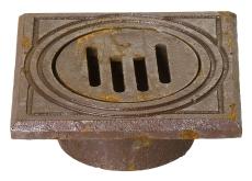 Jemi 110 mm rørbrøndkarm med rist, firkantet, 1,5 t, GG