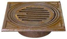 Jemi 160 mm rørbrøndkarm med rist, firkantet, 1,5 t, GG