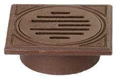 Jemi 200 mm rørbrøndkarm med rist, firkantet, 1,5 t, GG