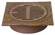 Jemi 315 mm rørbrøndkarm med rist, firkantet, 1,5 t, GG