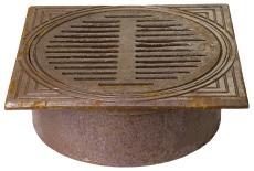 Jemi 425 mm rørbrøndkarm med rist, firkantet, 1,5 t, GG