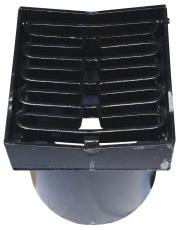 Duco 280 x 390 mm karm/rist, nedadbuet, 40 t, sort smedejern