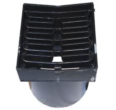 Duco 315 x 390 mm karm/rist, nedadbuet, 40 t, sort smedejern