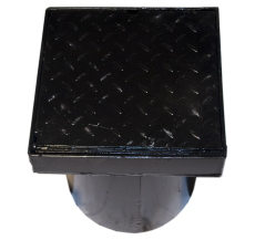 Duco 280 x 350 mm karm/dæksel, fast, 2,5 t, sort smedejern