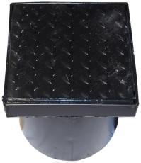 Duco 315 x 350 mm karm/dæksel, fast, 2,5 t, sort smedejern