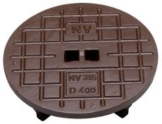 NV 315 mm dæksel uden pakning og lås, 1,5 t, GG