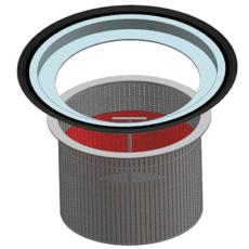 Ulefos 400 mm granulatfangersæt med holder og filterbeholder