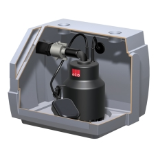 ACO Sinkamat-K 50 mm til synlig installation, gråt spildevan