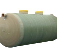 Wavin 4000 l 3-kammertank til gravitation, glasfiber