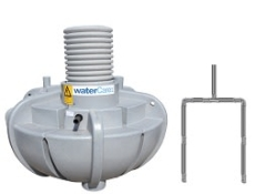 Watercare 2300 l 3-kammertank t/nedsivning m/pumpe, 5PE, kom