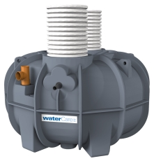 Watercare 2800 l 3-kammertank t/nedsivning m/Flygt pumpe, 5P