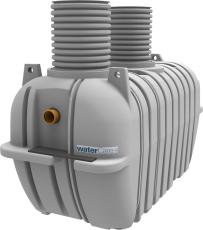 Watercare 4000 l 3-kammertank til nedsivning med pumpe, 10PE