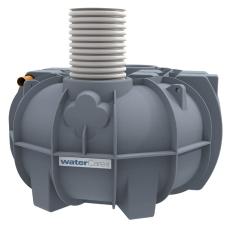 Watercare 4500 l 3-kammertank t/nedsivn. m/Grundfos pumpe, 1