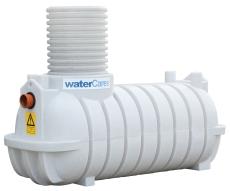 WaterCare 1200 l samletank med opføringsrør uden låg, PE