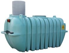 Watercare 4300 l samletank med opføringsrør uden låg, PE