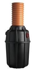 Wavin 625 l sandfang med 425 mm opføring, 110 mm til-/afgang