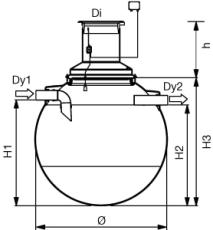 Wavin 5000 l sandfang uden opføring, 200 mm til-/afgang