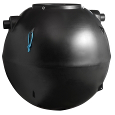 Wavin 10 l/s fedtudskiller m/alarm, 160 mm til-/afgang, i jo