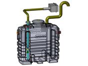 Wavin 2 l/s fedtudskiller m/alarm, 110 mm til-/afgang, over