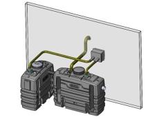 Wavin 7 l/s fedtudskiller m/alarm, 110 mm til-/afgang, over