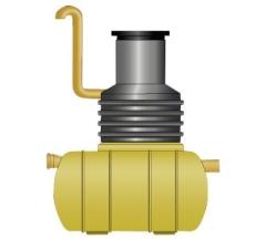 Wavin 15 l/s olieudskiller m/alarm, 200 mm til-/afgang, klas