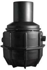 Wavin 10 l/s olieudskiller m/alarm, 160 mm til-/afgang, klas