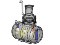 Wavin 50 l/s olieudskiller m/alarm, 315 mm til-/afgang, klas