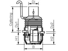 Wavin 6 l/s olieudskiller m/alarm, 160 mm til-/afgang, klass