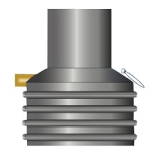 Wavin 600/1000 x 2100 mm opføringsrør til olieudskiller