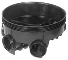 Wavin 315 x 600 mm BASIS TP2-brønd, glat, højre/venstre till
