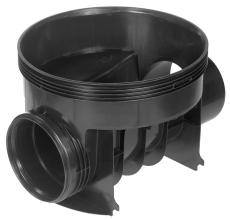 Wavin 110 x 315 mm BASIS TP1-brønd, glat, lige gennemløb
