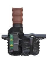 Wavin Certaro 6 l/s olieudskiller m/bypass, 315 mm til-/afga