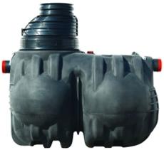 Wavin Certaro 20 l/s olieudskiller m/bypass, 250 mm til-/afg