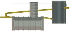 Biokube Venus 2200 1350 x 2200 mm minirenseanlæg, 10PE, SO