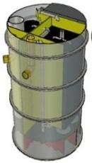 Biokube Venus 2500 1500 x 2230 mm minirenseanlæg, 15PE, SO