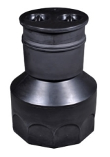 Wavin 315 x 858 mm PE-fordelerbrønd til gravitation med låg