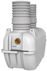 Watercare 10 l/s fedtudskiller, 160 mm til-/afgang, i jord