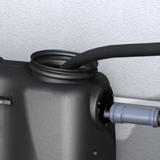 Kessel 2 l/s fedtudskiller, 110 mm til-/afgang, over jord