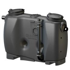Kessel 4 l/s fedtudskiller m/tømmerør 110 mm til-/afgang, o/