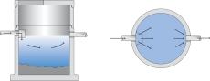IBF Unisep 3200 l betonsandfang uden kegle, 200 mm til-/afga