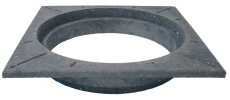 Lauridsen 315 mm karm, firkantet, fast, PVC-genbrugsplast