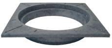 Lauridsen 425 mm karm, firkantet, fast, PVC-genbrugsplast