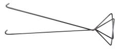 Lauridsen 6 mm dækselkroge (2 stk.)