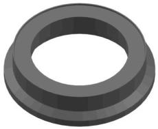 Lauridsen 600 mm kegle uden fals, PVC-genbrugsplast