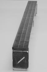Flexi 100 x 175 x 1250 mm sokkelaffugter u/rist, S235JR/DIN1